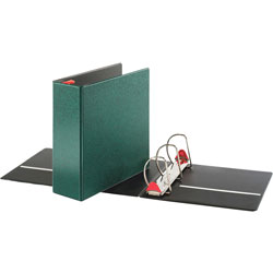 "Cardinal 52% Recycled Locking D-Ring Binder, 4"" Capacity, Green"