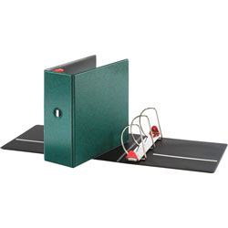"Cardinal 52% Recycled Locking D-Ring Binder, 5"" Capacity, Green"