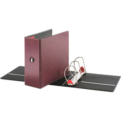 "Cardinal 52% Recycled Locking D-Ring Binder, 5"" Capacity, Red"