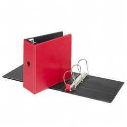 "Cardinal 44% Recycled Easy Open D-Ring Binder, 5"" Capacity, Red"