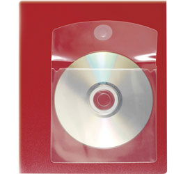 "Cardinal 21845 Self Adhesive CD Disk Pockets, 5"" x 5"", Clear"