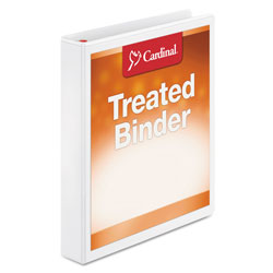 "Cardinal Antimicrobial 1"" View Binder, White"