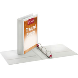 "Cardinal Antimicrobial 1 1/2"" View Binder, White"