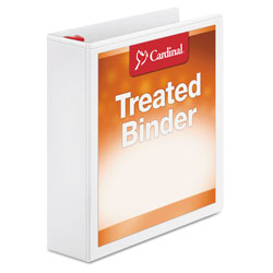 "Cardinal Antimicrobial 2"" View Binder, White"