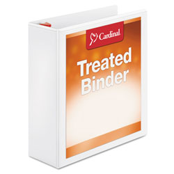 "Cardinal Antimicrobial 3"" View Binder, White"