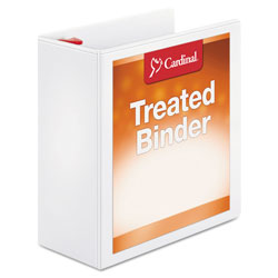 "Cardinal Antimicrobial 4"" View Binder, White"