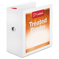 "Cardinal Antimicrobial 5"" View Binder, White"