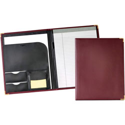 Cardinal Pad Holder with Writing Pad, Letter size, Document Pocket, Burgudny