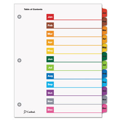 Cardinal OneStep® Index Tabs, Multicolor