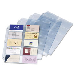 "Cardinal Refill Pages, 20 Cards/Page, 200 Cap, 8 1/2""x11"", Clear"