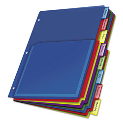 Cardinal Expanding Sheet Dividers, Multicolor