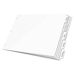 Cardinal Write-On Index Tabs, White