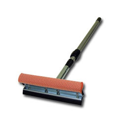 "Carrand 8"" Metal Head Squeegee - with a 21"" - 36"" Extension Handle"