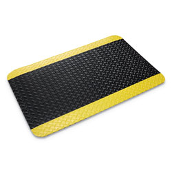 Ludlow Composites Deck Plate Vinyl Anti-Fatigue Mat, 3' x 5', Black