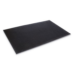 Ludlow Composites Crown-Tred Indoor/Outdoor Scraper Mat, Rubber, 43 3/4 x 66 3/4, Black