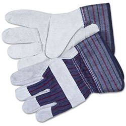 Crews Split Leather Palm Gloves, White