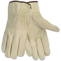 Memphis Glove Economy Leather Driver Gloves, Medium, Beige