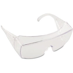 Crews Yukon Safety Glasses, Wraparound, Clear Lens