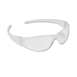 Crews CheckMate Safety Glasses, Uncoated Clear Lens, Clear Frame