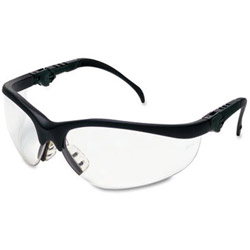 Crews Klondike Plus Safety Glasses, Black Frame, Clear Lens