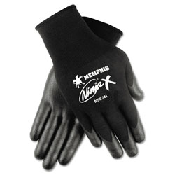 Crews Ninja X Bi-Polymer Coated Gloves, Small, Black