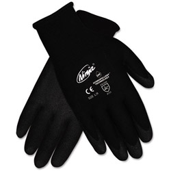 Crews Ninja HPT PVC coated Nylon Gloves, Large, Black