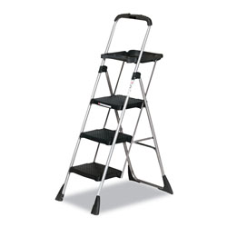 Cosco Max Work Steel Platform Step Stool, 22w x 3d x 61h, Black