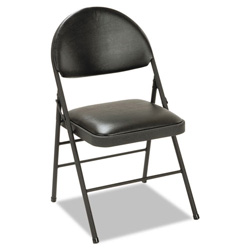 Cosco XL Folding Chairs Vinyl Seat & Back Black 4