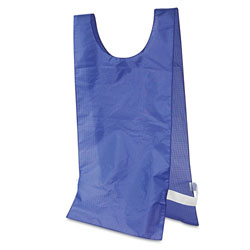 Champion Heavyweight Pinnies, Nylon, One Size, Blue, 12 per Pack