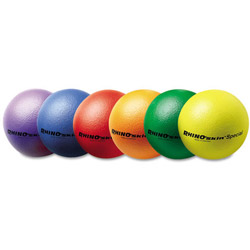 "Champion Rhino Skin Ball Sets, 8.5 "", Blue, Green, Orange, Purple, Red, Yellow, 6/Set"