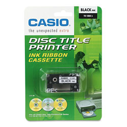 "Casio Thermal Ink Ribbon for CSOCWE60/CWE85 Disc Title Printers, 3/4""w, Black"
