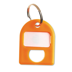 Carl Replacement Security Cabinet Key Tags, Orange