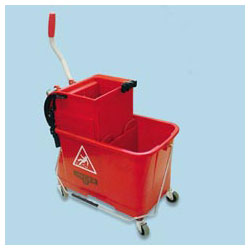 Unger 4 Gallon Side-Press Restroom Mop Bucket Combo, Red