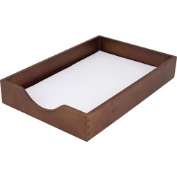 Carver Wood Products Wood Desk Tray, Legal Size, Walnut