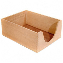 "Carver Wood Products Desk Tray, Wood, 5"" Deep, Letter, Oak"