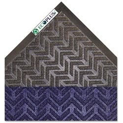 Crown Mats & Matting EcoPlus Rubber Floor Mat, 3' x 5', Blue