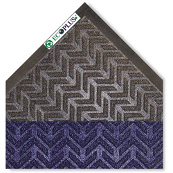 Crown Mats & Matting EcoPlus Rubber Floor Mat, 3' x 10', Blue