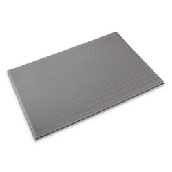 "Crown Mats & Matting Ribbed Vinyl Anti-Fatigue Mat, 27"" x 36"", Gray"