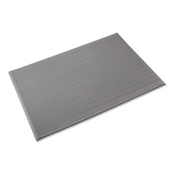 "Crown Mats & Matting Ribbed Vinyl Anti-Fatigue Mat, 36"" x 120"", Gray"