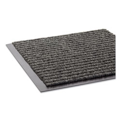 "Crown Mats & Matting Needle Rib™ Vinyl & Polyproylene Scraper Mat, 36"" x 60"", Gray"