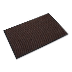"Crown Mats & Matting Needle Rib™ Vinyl & Polyproylene Scraper Mat, 48"" x 72"", Brown"