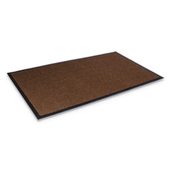 "Crown Mats & Matting Super Soaker™ Rubber & Polyproylene Wiper Mat, 34"" x 58"", Brown"