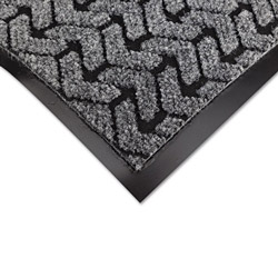 "Crown Mats & Matting Needlepunch Vinyl & Polyproylene Scraper Mat, 36"" x 60"", Gray"