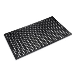 "Crown Mats & Matting Safewalk Light™ Rubber Anti-Fatigue Mat, 36"" x 60"", Black"
