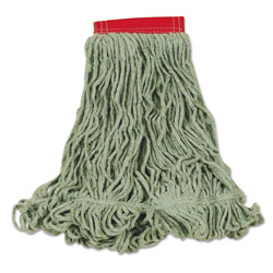 Rubbermaid Super Stitch Blend Mop Heads, Cotton/Synthetic, Green, Large