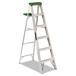 Louisville Ladder #428 Six-Foot Folding Aluminum Step Ladder, Green