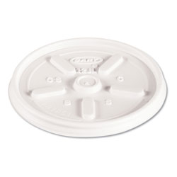 Dart Container Vented Plastic Lid For Hot/Cold Foam Cups, White