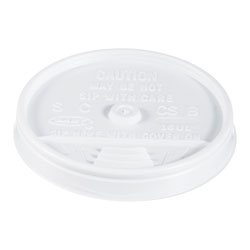 Dart Container 16UL White Plastic Lids For Hot/Cold Foam Cups