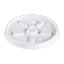 Dart 8JL Vented Plastic Lids For 8 Ounce Hot/Cold Foam Cups