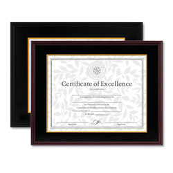 Dax Hardwood Document/Certificate Frame with Mat, 11x14, Black